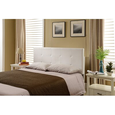 Avins Queen Upholstered Panel Headboard Upholstery: White