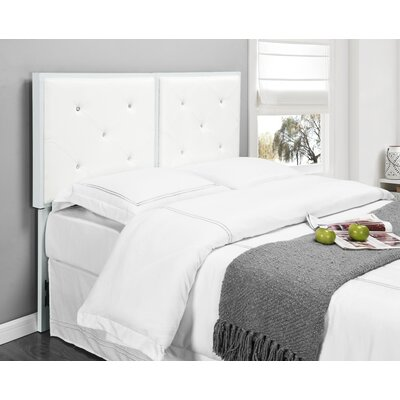 Upholstered Panel Headboard Size: Full, Upholstery: White