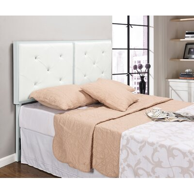 Upholstered Panel Headboard Size: Queen, Upholstery: White