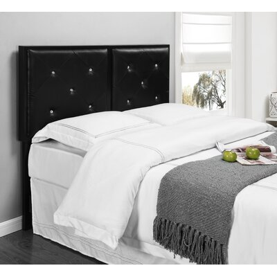 Upholstered Panel Headboard Size: Full, Upholstery: Black