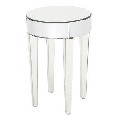 Curry Mirrored End Table