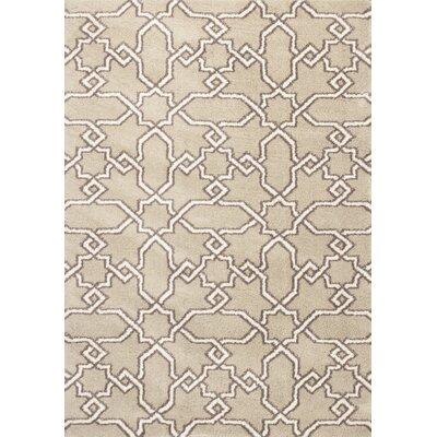 Annia Sand Area Rug Rug Size: 53 x 77