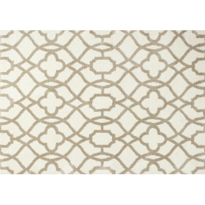 Annia Ivory/Beige Fancy Area Rug Rug Size: 33 x 53