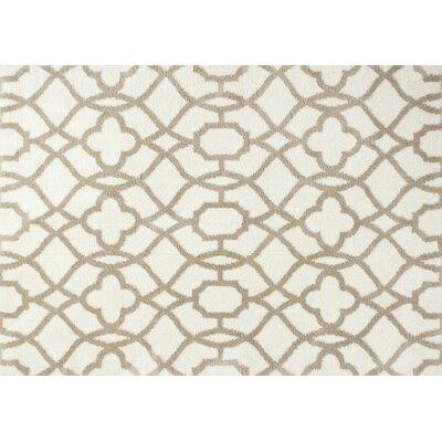 Carolos Ivory/Beige Fancy Area Rug Rug Size: 710 x 106