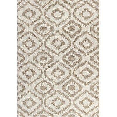 Carolos Ivory/Beige Area Rug Rug Size: 53 x 77