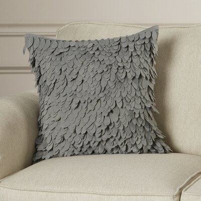 Tonnele Ruffle Throw Pillow Size: 18 H x 18 W x 4 D, Color: Gray, Fill: Polyester