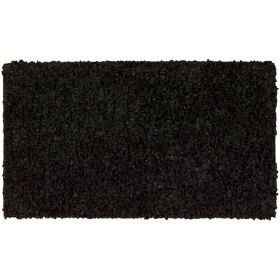 Servais Black Area Rug Rug Size: 18 x 29