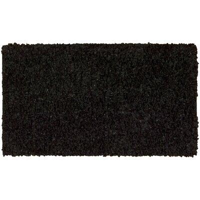 Servais Black Area Rug Rug Size: 18 x 29