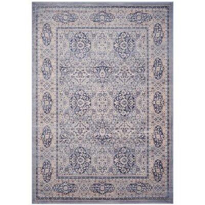 Laplaigne Blue / Ivory Area Rug Rug Size: 8 x 11