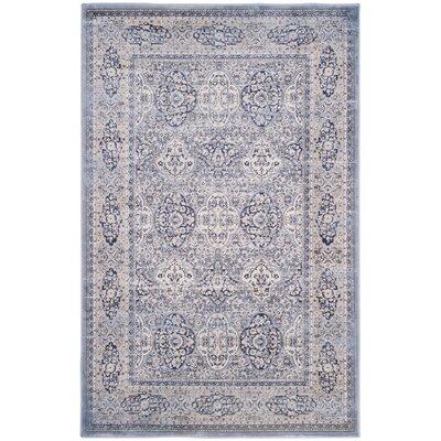 Laplaigne Blue / Ivory Area Rug Rug Size: 9 x 12