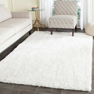 Bilgarrie Hand-Tufted White Area Rug Rug Size: Rectangle 4 x 6