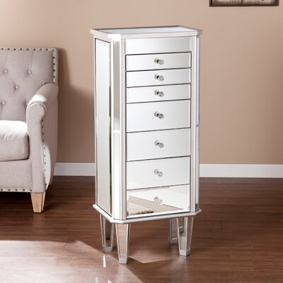 Belgium Mirrored Jewelry Armoire