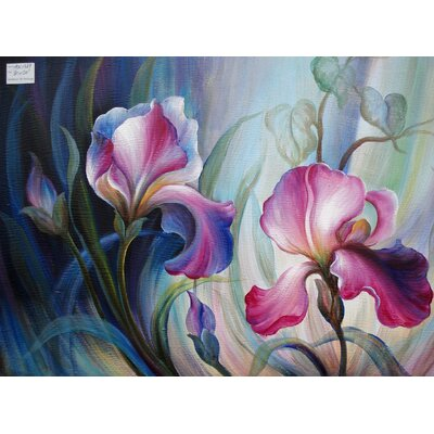 Cattleya Orchid Painting on Canvas