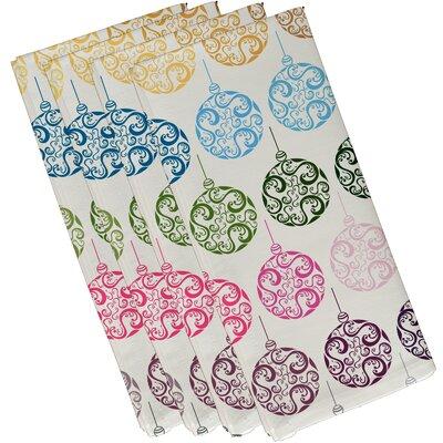 Painterly Bulbs Geometric Print Napkin Color: Teal