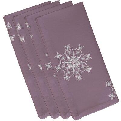 Falling Snow Geometric Print Napkin Color: Lavender