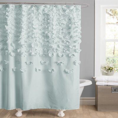 Romain Shower Curtain Color: Blue