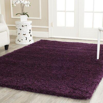 Ampthill Shag Purple Area Rug Rug Size: 5'3