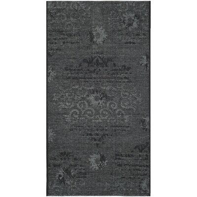 Chipping Ongar Black/Grey Area Rug Rug Size: Rectangle 2 x 36