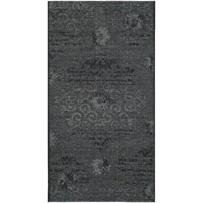 Chipping Ongar Black / Grey Area Rug Rug Size: Rectangle 3 x 5