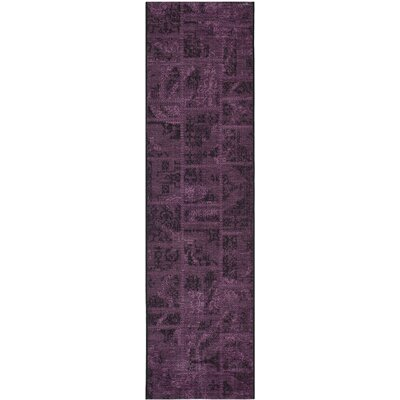 Chipping Ongar Black/Purple Area Rug Rug Size: Runner 2' x 7'3