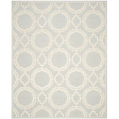 Hebden Bridge Hand-Tufted Grey/Ivory Area Rug Rug Size: 5 x 8