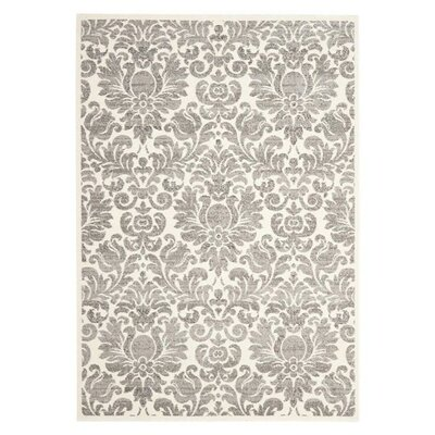 Roisin Gray/Ivory Area Rug Rug Size: Rectangle 9 x 12