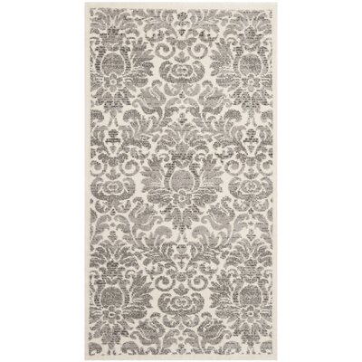 High Wycombe Gray/Ivory Area Rug Rug Size: Runner 24 x 67