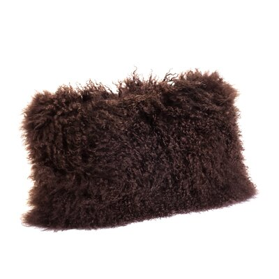 Valmont Lumbar Pillow Color: Dark Brown