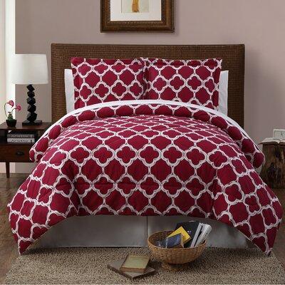 Droylsden 6 Piece Reversible Comforter Set Size: Queen, Color: Red