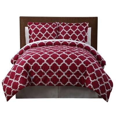Droylsden 6 Piece Reversible Comforter Set Size: King, Color: Red