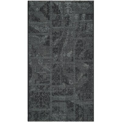 Chipping Ongar Black / Grey Area Rug Rug Size: Rectangle 2 x 36