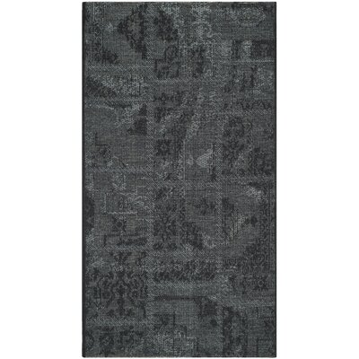 Chipping Ongar Black/Grey Area Rug Rug Size: 3 x 5