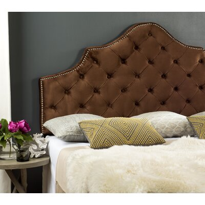 Christophe Cotton Upholstered Panel Headboard Size: King