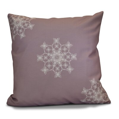 Decorative Holiday Geometric Print Throw Pillow Size: 18 H x 18 W, Color: Lavender