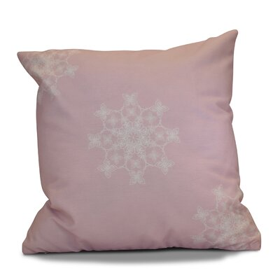 Decorative Holiday Geometric Print Throw Pillow Size: 16 H x 16 W, Color: Light Pink
