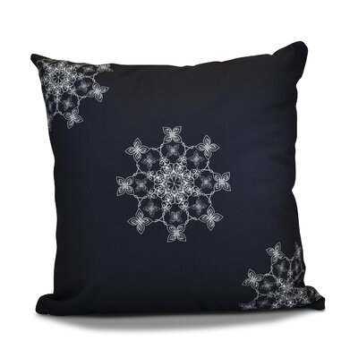 Decorative Holiday Geometric Print Throw Pillow Size: 16 H x 16 W, Color: Navy Blue