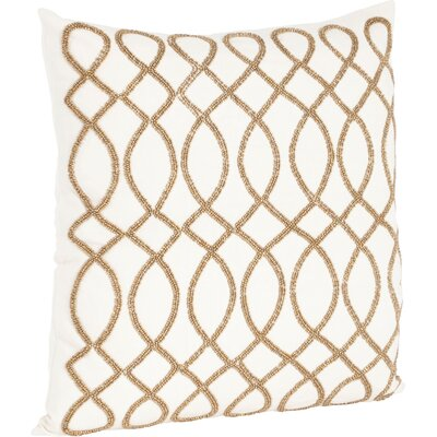 Charleson Swirl Design Beaded Throw Pillow Color: Bronze