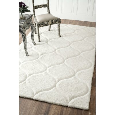 Gerold Hand-Tufted White Area Rug Rug Size: Rectangle 6 x 9