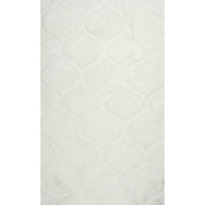 Gerold Hand-Tufted White Area Rug Rug Size: 86 x 116