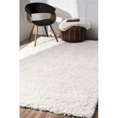 Koehn Hand-Tufted Ivory Area Rug Rug Size: Rectangle 6 x 9