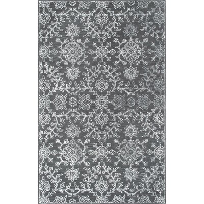 Koskoff Hand-Tufted Charcoal Area Rug Rug Size: Rectangle 76 x 96