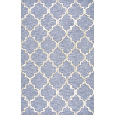 Landa Hand-Tufted Light Blue Area Rug Rug Size: 5 x 8