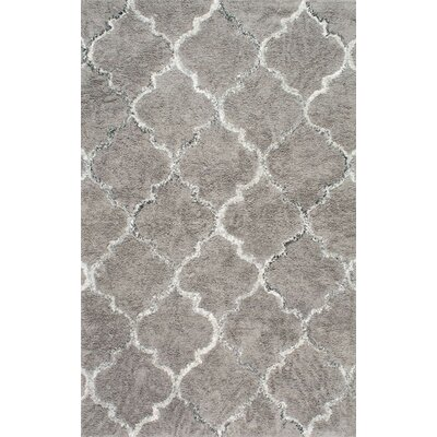 Landis Hand-Tufted Gray Area Rug Rug Size: Rectangle 76 x 96