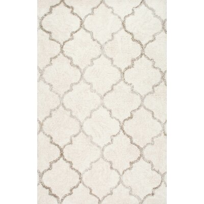 Langella Hand-Tufted Cream Area Rug Rug Size: 7'6