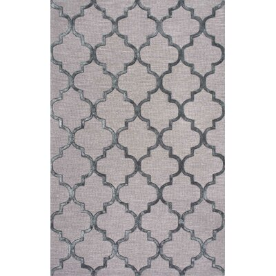 Lehman Hand-Tufted Dark Gray Area Rug Rug Size: 9 x 12