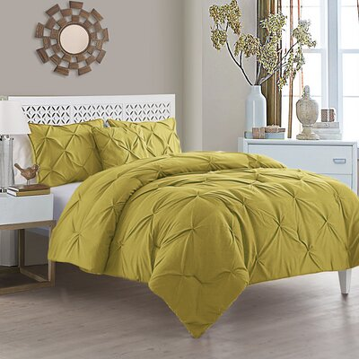 Mignault 4 Piece Comforter Set Color: Mustard, Size: King