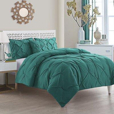 Mignault 4 Piece Comforter Set Color: Teal, Size: Queen
