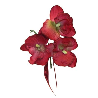Orchid Blossom Boutonniere or Corsage Color: Burgundy