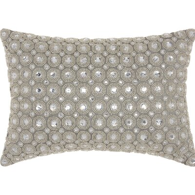 Sarahi Beads Lumbar Pillow Color: Silver