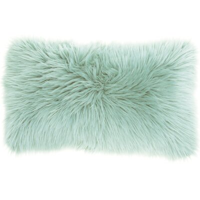 Yaritza Faux Fur Lumbar Pillow Color: Seafoam
